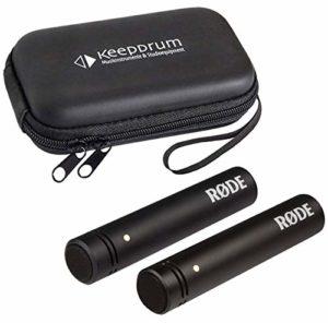 Rode M5 MP Microphone à condensateur stéréo + étui souple keepdrum