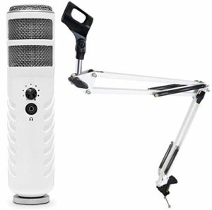 Rode Podcaster MKII Micro USB + keepdrum NB35 WH Blanc