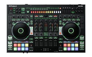 Roland DJ-808 Contrôleur DJ avec tambour intégré et mitigeur 4 canaux