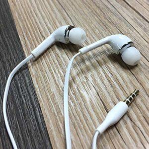 S4Wired écouteurs stéréo musique casque intra-auriculaires casque avec microphone bouchons d'oreilles écouteurs pour téléphone ordinateur mp3 (blanc)