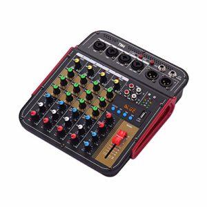 SLTZ Console de mixage de mixage Audio numérique à 4 canaux Alimentation fantôme intégrée avec système Audio pour l'enregistrement en Studio