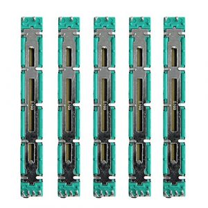 smallJUN 5 Pcs 75 MM Double B10K Original B10KX2 Behringer Pot Mixer Fader