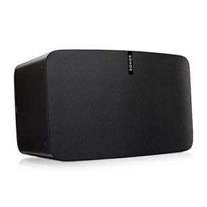 Sonos Play:5 Enceinte sans-fil multiroom wifi, haut-parleur hifi connecté pour diffuser votre musique préférée à partir de votre téléphone (iPhone, Android), tablette et ordinateur PC/Mac – Noir