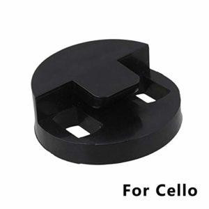 Sourdine ronde en caoutchouc à deux trous pour violoncelle 4/4 ou 3/4