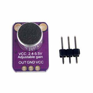Sunnyflowk GY-4466 Amplificateur de microphone à électret haute précision professionnel MAX4466 avec gain réglable (violet)