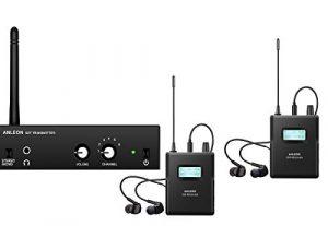 Système de surveillance stéréo S2 ANLEON sans fil avec écouteurs intra-auriculaires 1 Transmitter and 2 Receivers