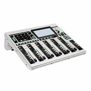 Table de mixage numérique 16 canaux Stage professionnel DSP Processeur d'effets numériques Enregistrement Conférence à distance Mariage Mélangeur dédié ( Couleur : C1 , Taille : 411x458x142mm )