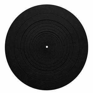 Tapis de Plaque Antistatique 12″ Antistatique Slipmat, en Caoutchouc de Platine, en Vinyle, pour réduire Les Chocs, N° 0, Noir, Free Size