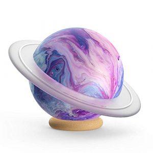 terferein Mini Petite stéréo, Stéréo Bluetooth sans Fil Mini Audio Electronics pour Planet Music, dotée des 8 lumières par défaut, Vous offrant Une expérience colorée à 360 °