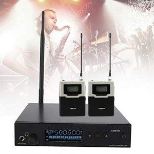 Topiky Système d'écoute Intra-auriculaire sans Fil avec 2 récepteurs Surveillance sur scène pour Les Performances sur scène et la Diffusion Audio(798,2 MHz ~ 829,7 MHz)