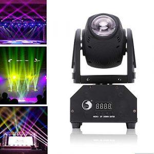 Top-Uking Éclairage de Scène LED Lampe RGBW DMX512 Commande Vocale Automatique Tête rotative Lumière pour Soirée Dj Disco Club Fête Bar
