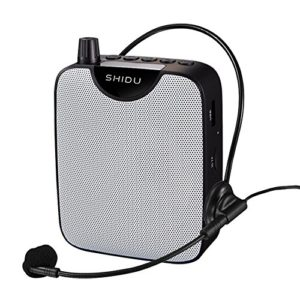 Ultraléger Amplificateur voix portable Haut Parleur 10 W avec micro casque et Batteries Rechargeables pour les guides, les enseignants, conférenciers, animateurs