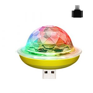 USB Mini Disco Light – Stade Portable DJ Light Disco LED Lampe Ball Party Strobe Buld pour Le Club De Célébration De Mariage Décorations Karaoké