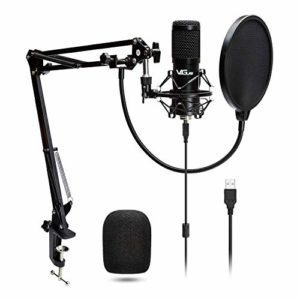 VeGue USB Microphone, PC Laptop Microphone, Recording Microphone Kit with 16/24 mm Diaphragmfor Gaming,Streaming, YouTube, Podcasting 192KHz/24BIT VG016 VG028 (VG-016)