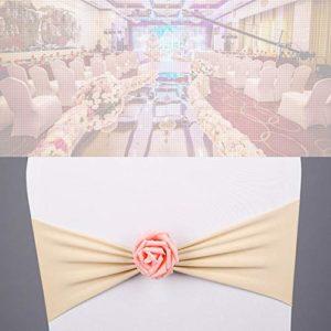 Weehey Président Sash Bow Élastique Président Ribbon Retour Cravates Bandes Rose Fleur pour Banquet de Cérémonie de Mariage