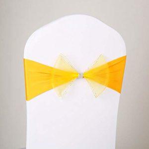 Weehey Président Sash Bow Élastique Président Ruban Retour Cravates Bandes pour Banquet de Cérémonie de Mariage