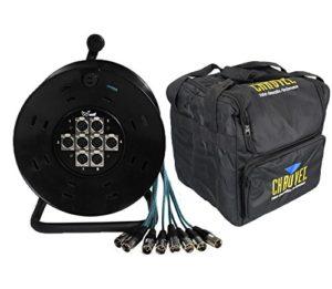 XLR multipaire 8voies 15m tambour stagebox 15m & Chauvet Chs-40Housse de transport de l'emballage