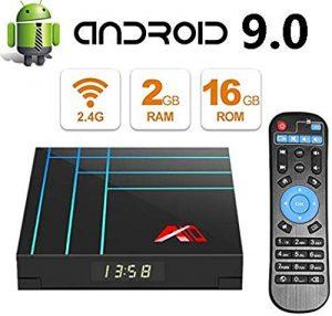 YPSMLYY Android Box 2 Go De RAM + 16 Go De ROM RK3318 Quad-Core 64 Bits Cortex-A53 3D Ultra HD 4K H.265 USB Android 9.0 TV Box