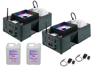2 x American DJ Fog Fury Jett Pro High Power Vertical 650 W Smoke CO2 Effect DMX