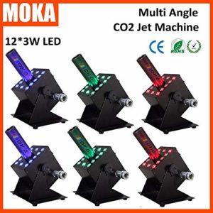 6 pièces MOKA CO2 Cryo Jet Machine à jet monotube DMX LED CO2 Jet Machine jusqu'à 8-10 mètres de hauteur de pulvérisation