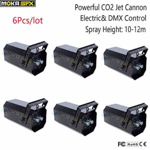 6Pcs/lot de canon à CO2 puissant de contrôle électrique et DMX petit puissant jet de CO2 jet canon à jet de 12 m effet spécial étape