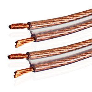 Câble d'haut-parleurs Van Damme Audio Twin Interconnect 2 x 4.0mm (Hi-Fi directionnelle, définition totale) 268-504-000 150 Meter / 150M