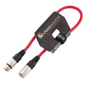 Câble Micro XLR mâle à femelle/Équilibré/Câble patch micro / 7 couleurs 0.5m Rouge