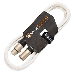 Câble Micro XLR mâle à femelle/Équilibré/Câble patch micro / 7 couleurs 2m Blanc