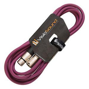 Câble Micro XLR mâle à femelle/Équilibré/Câble patch micro / 7 couleurs 3m Violet