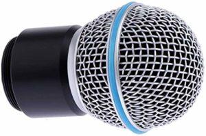 Cartouche de microphone dynamique, tête de capsule de remplacement compatible avec PGX2 SLX2 SM58