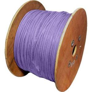 Cat6a Enrouleur de câble Violet fumée S/FTP 500m 500metres 10g Ethernet HQ