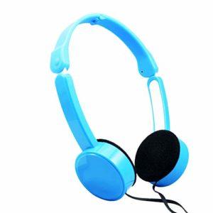 FADDARE Casque audio stéréo pliable pour enfant avec prise 3,5 mm pour piano électrique, casque stéréo, N° 0, bleu, Free Size