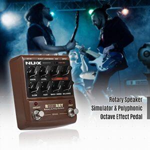Festnight NUX ROCTARY FORCE Simulateur de haut-parleur rotatif 2-en-1 et pédale d'effet guitare octave polyphonique True Bypass