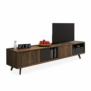Gububi Meuble de Rangement de Bureau Meuble TV Meuble de Salon Simple Meuble TV Console, Bois Dense, Jaune, 200x40x52cm