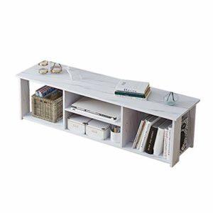 Gububi Meuble de Rangement de Bureau Moderne Blanc, Bois Dense, Blanc, 120x30x41cm
