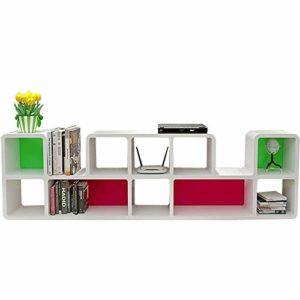 Gububi Organiseur de Bureau pour TV Media Entertainment Console – Espace de Rangement supplémentaire, ABS, Gris, 188×55.5x24cm