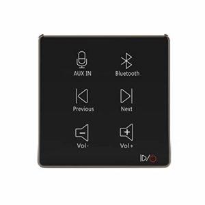 HELMER Amplificateur Audio Mural Bluetooth, Noir, L50 | Récepteur de contrôle Audio à Montage Mural | MicroUSB, Carte TF, entrée auxiliaire | Connect 2 Haut-parleurs