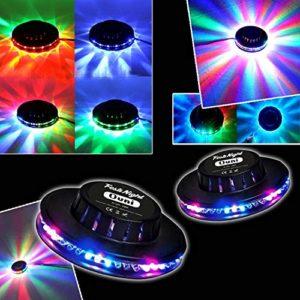 Jeu de lumière Pack Light 2 Effets OVNI LED RVB FestiNight