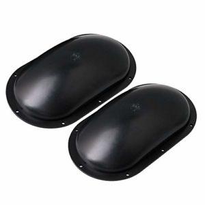 JH129 Lot de 2 poignées en plastique pour haut-parleur Noir 230 x 130 x 53 mm