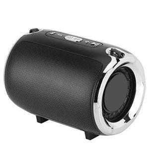 Kafuty Haut-Parleur de Graves Lourds, Haut Parleur Bluetooth Portable, Haut-Parleur stéréo de Musique stéréo avec Microphone, bandoulière et câble de Chargement USB