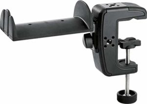 K&M 16085 Support de casque pour table, noir
