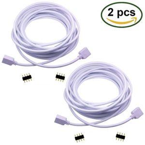 LitaElek Câble d'extension 5m Connecteur Ruban LED à 4 Broches RGB rallonge Flexible de Bande de LED pour SMD 5050 3528 2835 RGB LED Strip Ruban LED Bande LED (5m, 2pcs)