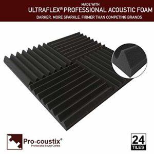 Lot de 24 dalles en mousse acoustique Pro-coustix Ultraflex de haute qualité