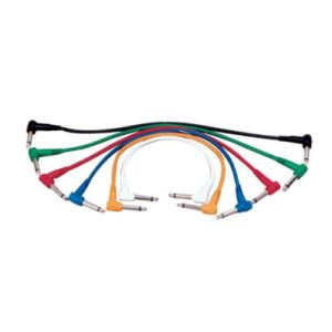 Lot de 6Câbles Patch. 60cm de largo. Jack Mono mâle vers Jack Mono macho. connecteurs acodados