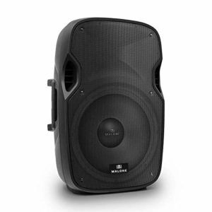 Malone PA 38 enceinte active de sonorisation (subwoofer de 38cm, 2 entrées RCA, 2 entrées micros, XLR, equalizer 2 bandes, effet echo, 800W)