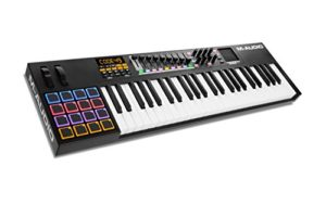 M-Audio – CODE 49 – Clavier Maître MIDI 49 Touches AfterTouch avec Pad Tactile X/Y, 16 Pads, 9 Faders + Logiciels VIP 3, Ableton Live Lite, Hybrid 3 et Loom Inclus – Noir