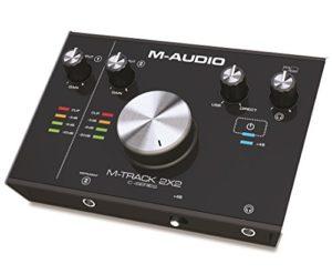 M-Audio M-Track 2×2 – Interface Audio USB-C high-speed 2 Canaux Haute Résolution + Série de Logiciels de Musique Inclus