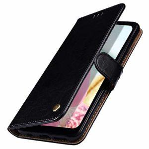 MoreChioce Coque Galaxy A70,compatible avec Coque Samsung Galaxy A70 Clapet,Noir Housse à Rabat Etui en Cuir Portefeuille Wallet Cover Étui de Protection Magnétique avec Support