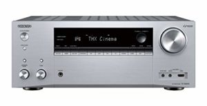 Onkyo TX-NR696(S) Récepteur AV 7.2 canaux (THX Cinema Sound, Dolby/DTS : X, WiFi, Bluetooth, streaming, applications musicales, Spotify, Deezer, radio, Multiroom, 175 Watt/Channel), Argent