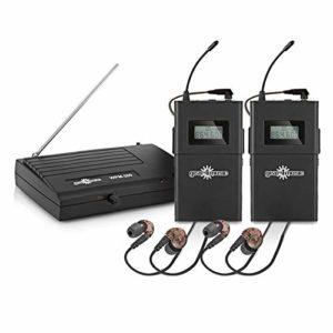 Pack avec Systeme de Monitoring Intra-Auriculaire Sans Fil par Gear4music et 2 Recepteurs